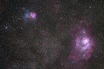 M8 M20 nebulae in Sagitarius